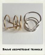 Bague géométrique triangle