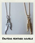 Sautoir Feather Double